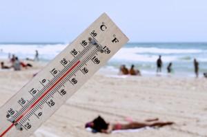température à la plage, risques d'insolation