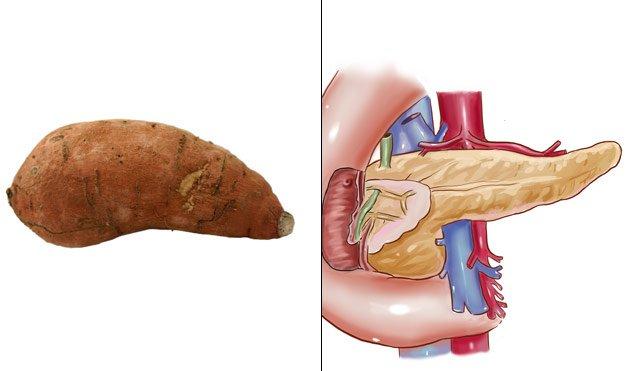 10. Patate douce pancréas